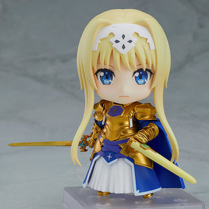 Description:Stand strong with your values and Alice certainly will. Set her up the way you like with all the customization that make Nendoroid so special Dimensions: 10cm roughlyBrand: Alice Synthesis Thirty, Alicization, Nendoroid, SAOBoxed: yes Default Title 80.00 AUD