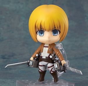 Description:While not the most deadly of fighters, Armin makes up for it with his knowledge and intellect. Saving people without having to fight is highly effective.  Dimensions: 10 cm roughlyBrand: Armin Arlert, Attack on Titan, NendoroidBoxed: yes Default Title 80.00 AUD