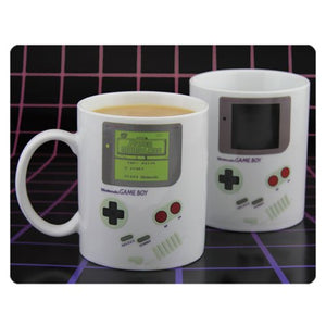 DescriptionThis mug looks like it is a Game Boy, and will even change its design based on if it has Hot, or Cold liquid inside. Hot - On, Cold - Off Hand Wash Only, Not Dishwasher Safe, Do Not Microwave Size: 9.5cm Tall and a Diameter of 8cmHolds: ~300ml of liquidBrands: Nintendo, Paladone ProductsBoxed: Yes   Default Title 20.00 AUD