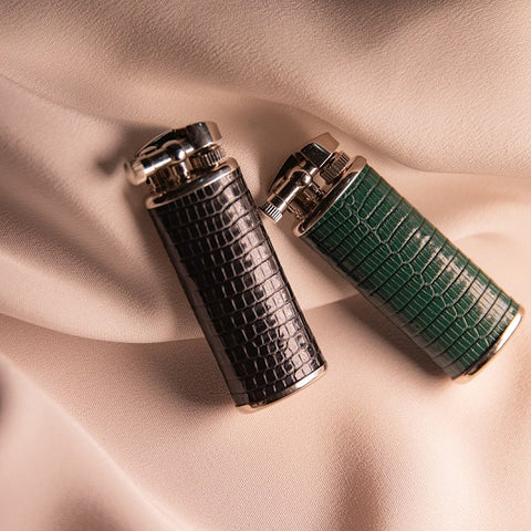 Lizard Leather Wrapped Lighters