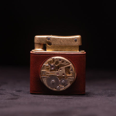 Antique Brass Carved Lighter