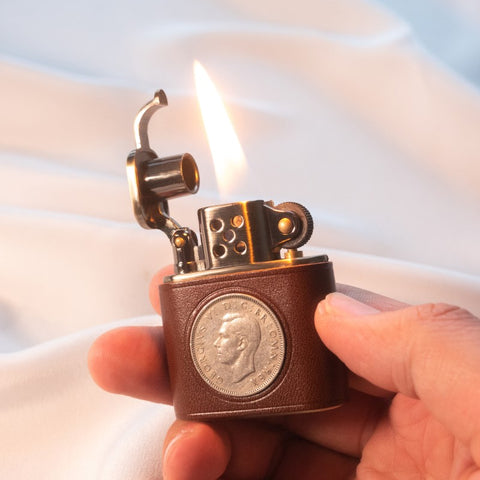 TSHOMX Hand Forged Queen Elizabeth Coin Lighter