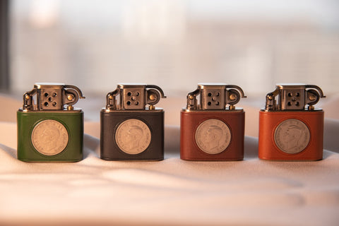 TSHOMX Hand Forged r Queen Elizabeth Coin Lighter -4 colors