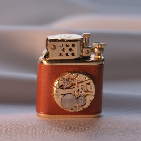 Gold Cigarette Metal Windproof Lighter sandy brown