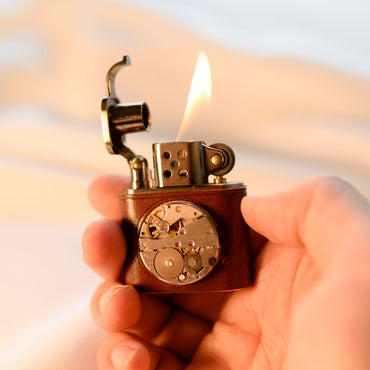 vintage Kerosene Lighter - brown