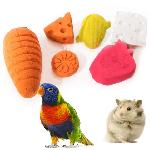 6pcs Pet Toy Food Cheese Corn Carrot
