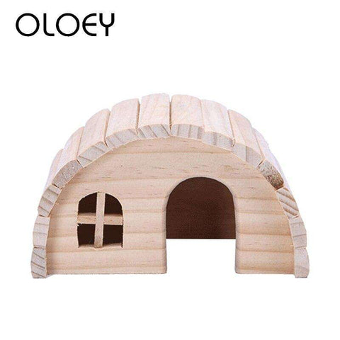 Hamster Toys Wooden Cage House