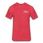 Heather Red T-Shirt White Writing - heather red
