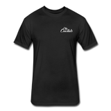 Black T-Shirt with White Writing - black