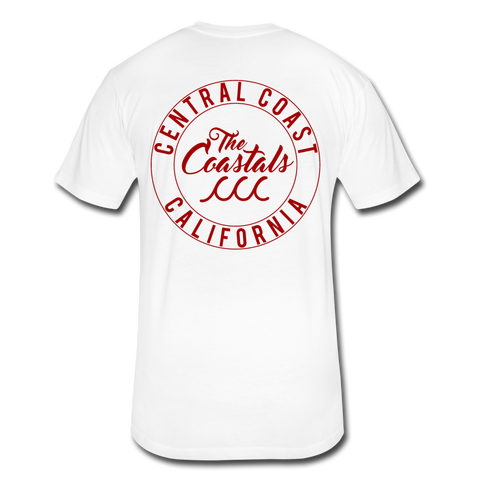 White Fitted Coastals OG T-Shirt Red Writing - white