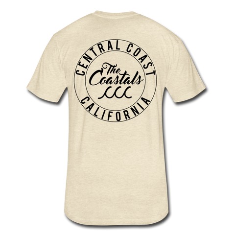 Heather Cream Fitted Coastals OG T-Shirt Black Writing - heather cream