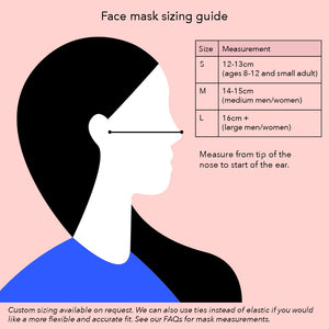 Reusable face mask - Claire Ritchie, Cream