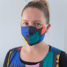 Load image into Gallery viewer, Reusable face mask - Claire Ritchie, Charcoal