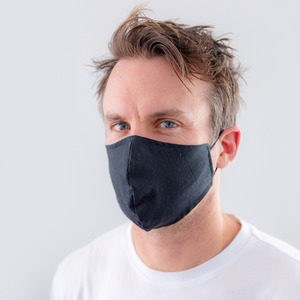 Reusable face mask - plain fabric (S, M, L sizes)