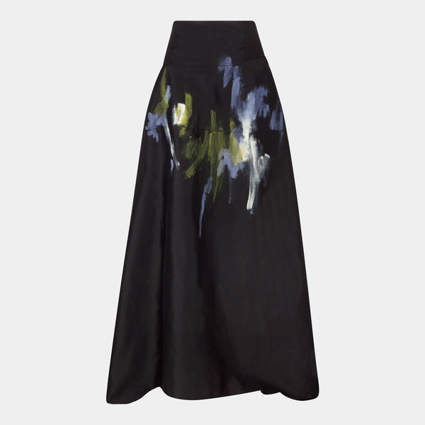 Maxi skirt dupion silk