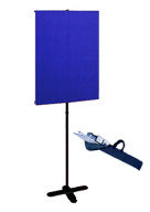 Chromakey Blue Backdrop and Backdrop Stand with travel base