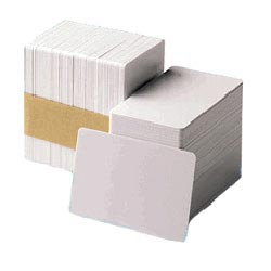 CR104524-104 CR80.030 UV Brightner Card - 30 Mil PVC Composite with optical brighter for use with YMCUvK Ribbon