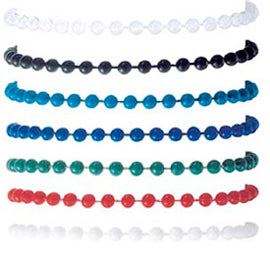 38 inch Large Plastic Bead Chain - Various colors