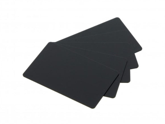 Evolis  PVC BLANK CARDS - BLACK MATTE FINISH - 30 MIL - 5 Packs of 100 Cards