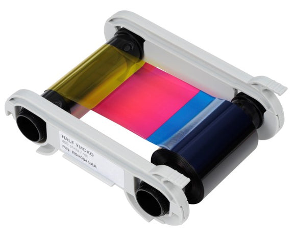 Evolis  1/2 YMCKO Color Ribbon - 400 Prints / Roll
