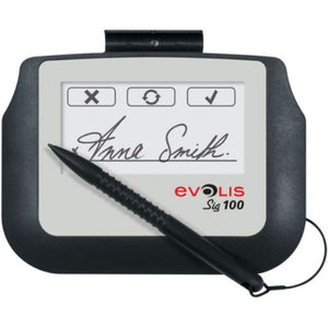 Evolis  Sig100 Signature Pad, Monochrome 4 Interactive LCD Signature Pad with Backlight, USB