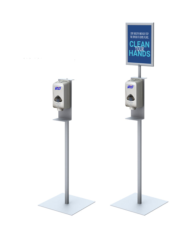 Hand Sanitizer Stand for Automatic Dispensers w/ 11