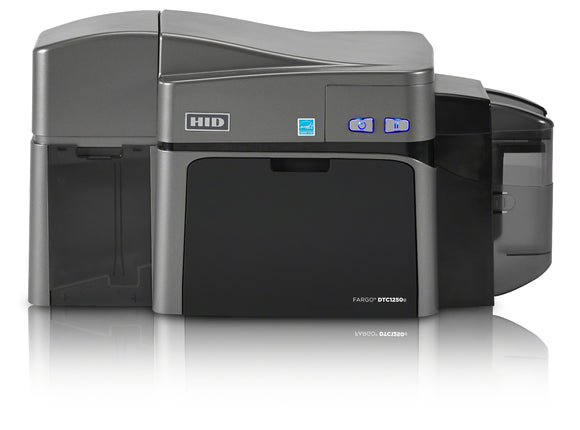 HID  DTC1250e Dual-Sided Printer with Ethernet with Internal Print Server + ISO Magnetic Stripe Encoder + Integrated HID Prox, ICLASS, MIFARE/DESFire, and Contact Smart Card Encoder (Omnikey Cardman 5121 and 5125)