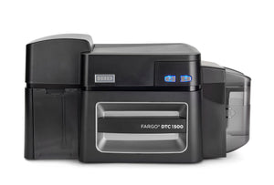 HID  DTC1500 Single-Sided Printer + HID Prox, ICLASS, MIFARE/DESFire, and Contact Smart Card Encoder (Omnikey Cardman 5121 and 5125)