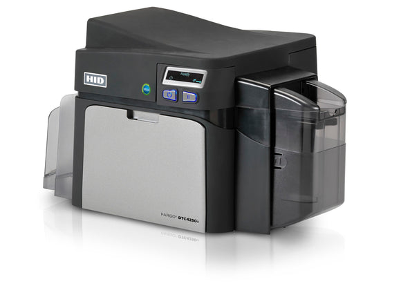 HID  DTC4250e Single-Sided Printer with ISO Magnetic Stripe Encoder + HID Prox, ICLASS, MIFARE/DESFire, and Contact Smart Card Encoder (Omnikey Cardman 5121 and 5125)