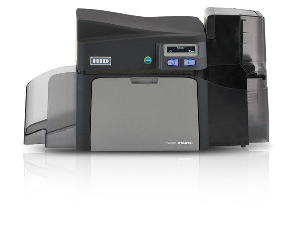 HID  DTC4250e Single-Sided Printer with Same-Side Input/Output Card Hopper, Ethernet with Internal Print Server + USB with Three Year Printer Warranty