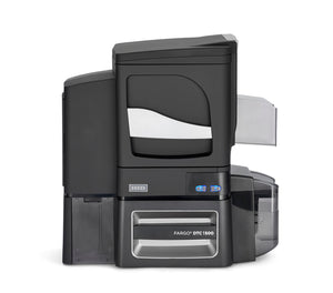 HID  DTC5500LMX Printer with Two Material Laminator, HID Prox, ISO Magnetic Stripe Encoder, ICLASS, MIFARE/DESFire, and Contact Smart Card Encoder (Omnikey Cardman 5121 and 5125)  with Three Year Printer Warranty - WITH Locking Hoppers