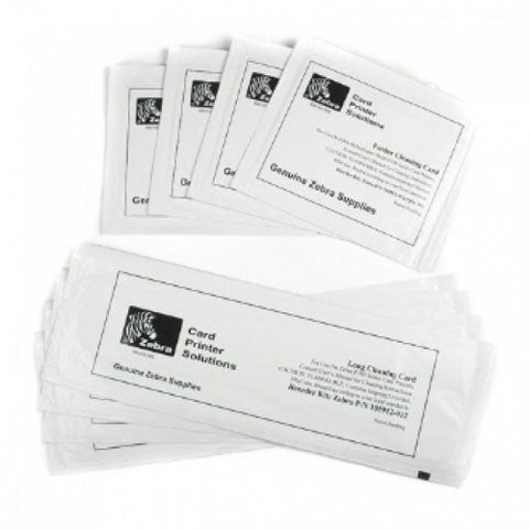 Zebra ZXP Series 3, Cleaning Kit, 4 print engine cleaning cards and 4 feeder cleaning cards (enough for 4,000 prints)1