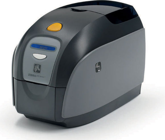 Zebra ZXP Series 1 Single-Sided Card Printer with USB, Ethernet Connectivity, US Power Cord, Magnetic Encoder