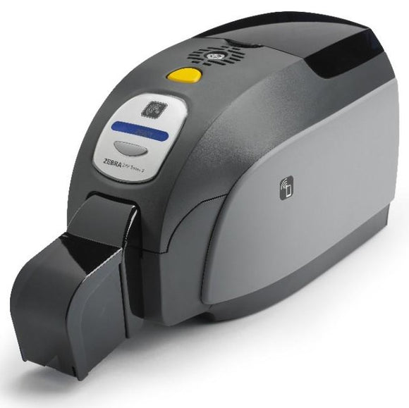 Zebra ZXP Series 3 Single-Sided Card Printer with USB, US Power Cord, Contact Encoder + Contactless MIFARE, Magnetic Encoder, Ethernet Connectivity