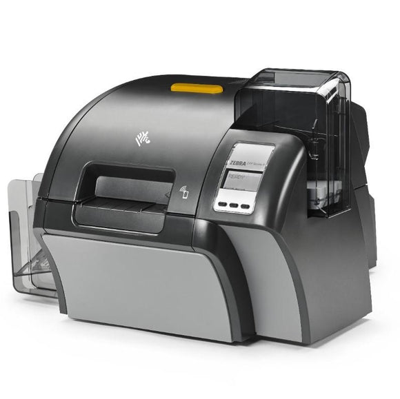 Zebra ZXP Series 9 Retransfer Dual-Sided Card Printer with Contact Encoder + Contactless MiFARE, Magnetic Encoder, USB and Ethernet Connectivity, US Power Cord