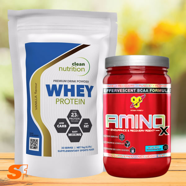 Whey protein and bcaas