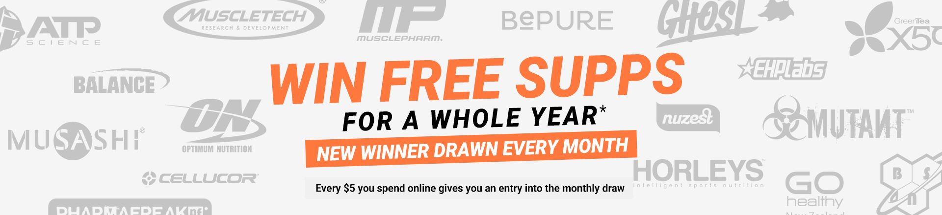 Win Free Supps For A Whole Year
