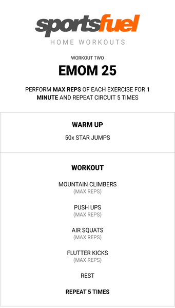 Sportsfuel home workout guide