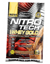 1x Muscletech Nitro Tech Whey Gold Sample