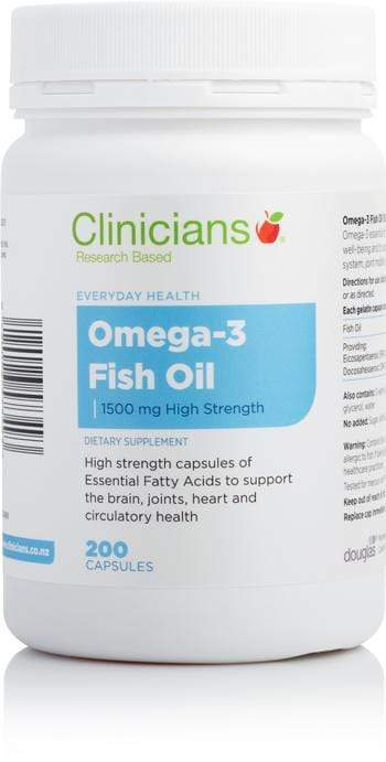 Clinicians Omega 3 Fish Oil 1500mg 200 Caps