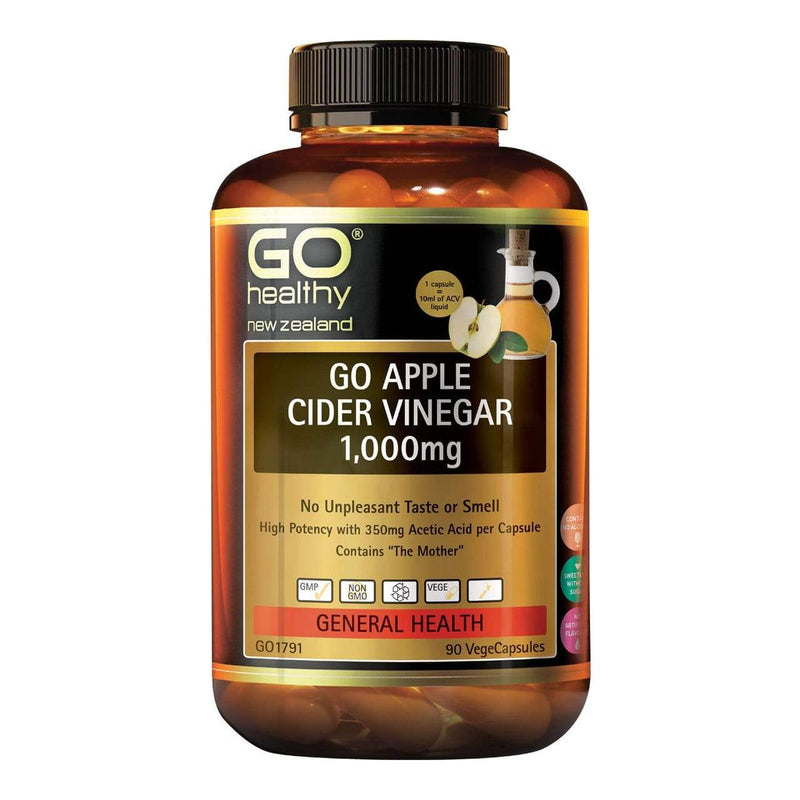 Go Apple Cider Vinegar 1000mg 90 caps