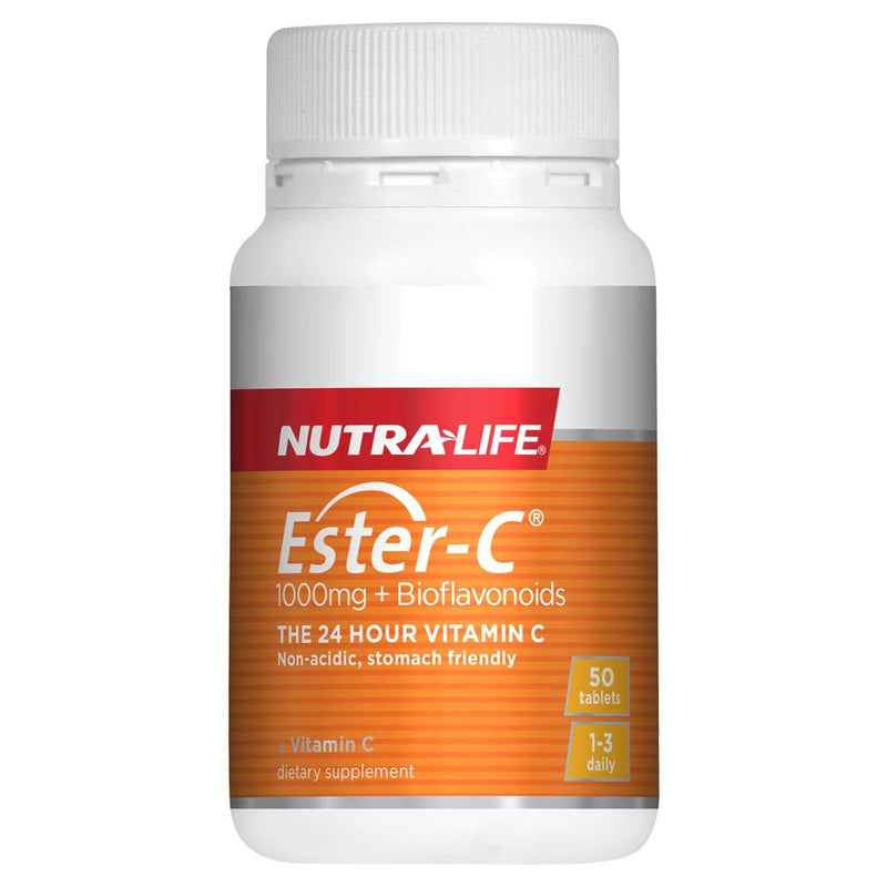 NutraLife Ester-C 1000mg with Bioflavonoids 50 Tabs