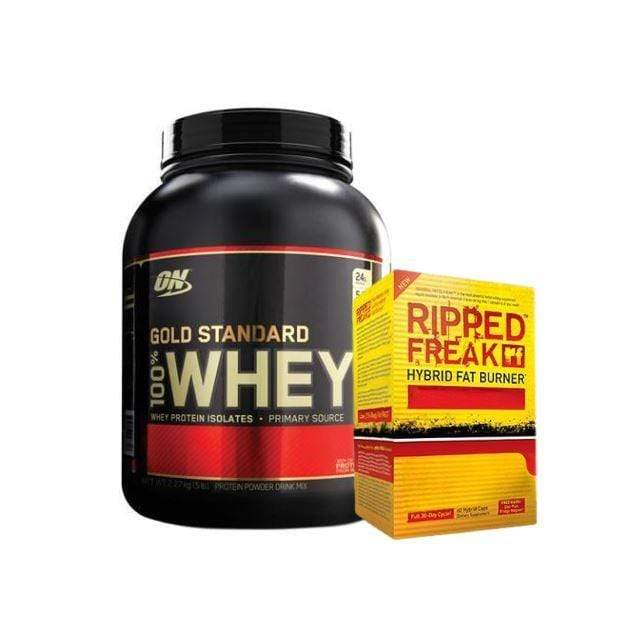 Optimum Whey and Ripped Freak Stack