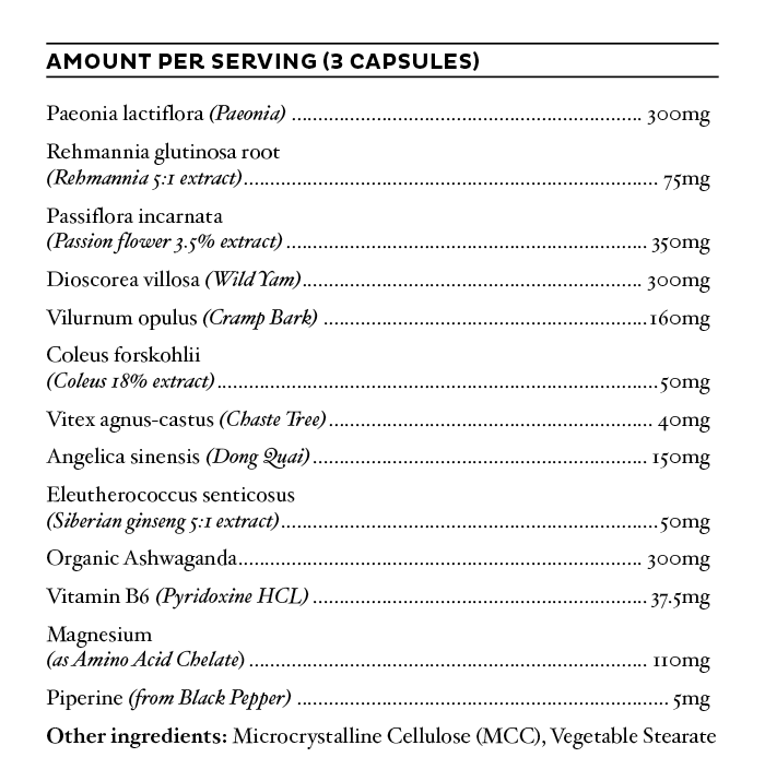 Nutrition Facts For BePure Progesto Renew