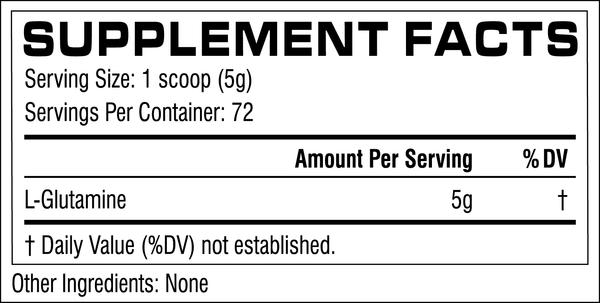 Nutrition Facts For Cellucor Glutamine