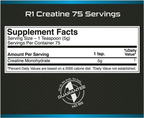 Nutrition Facts For Rule 1 Creatine 750g