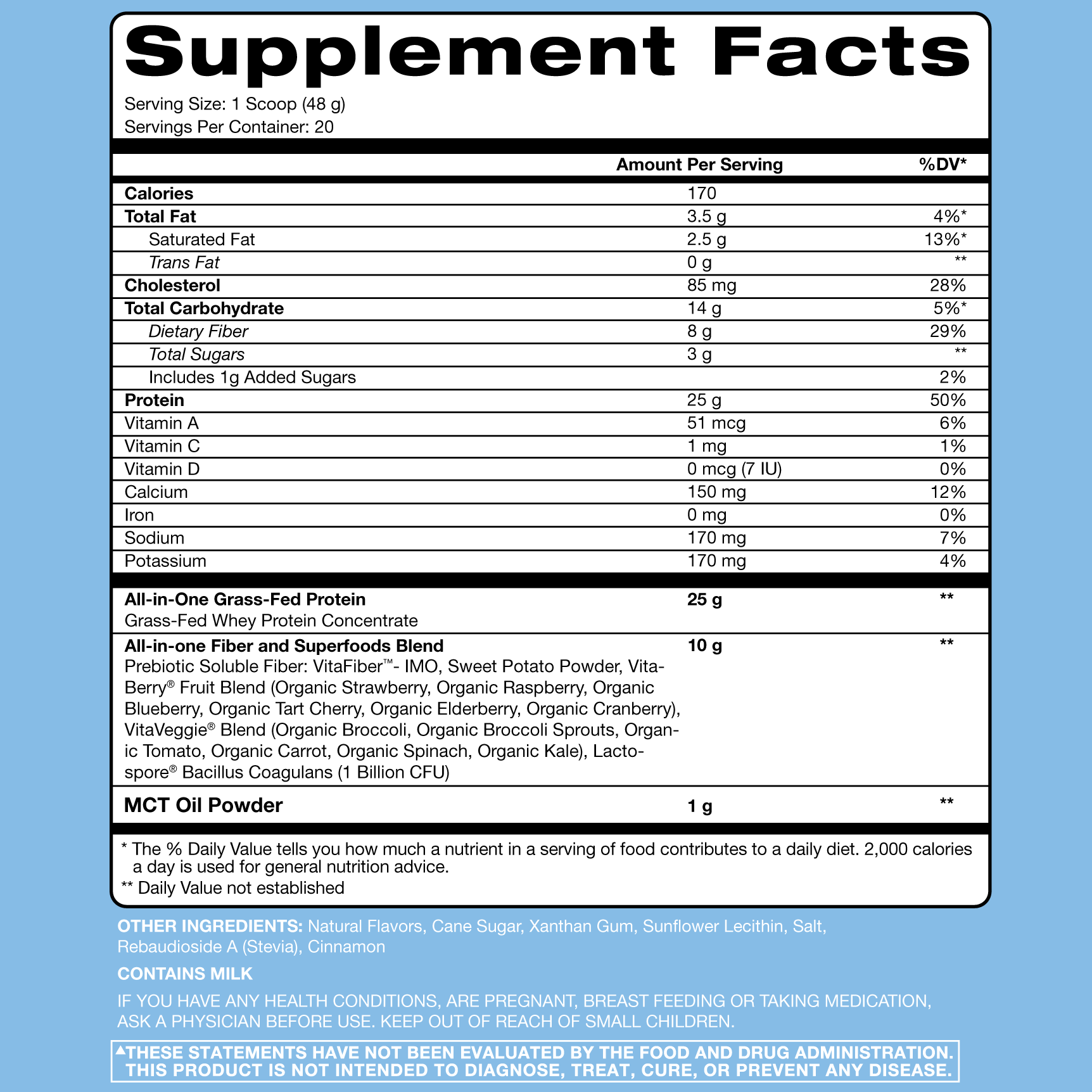 Nutrition Facts For Rsp Nutrition TrueFit 2lb