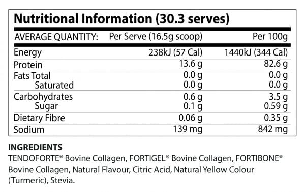 Nutrition Facts For ATP Science Jolt