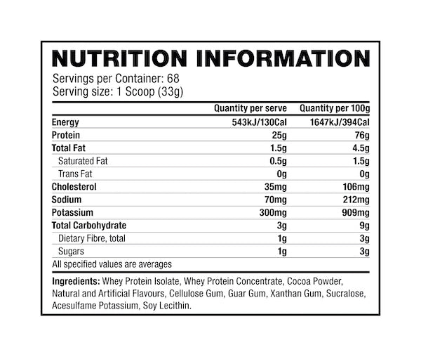 Nutrition Facts For Musclepharm Grass Fed Whey 420g