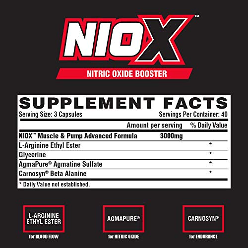 Nutrition Facts For Nutrex Niox Pump